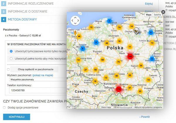 Magento Paczkomaty - proces zamówienia, mapa - Smartmage.pl