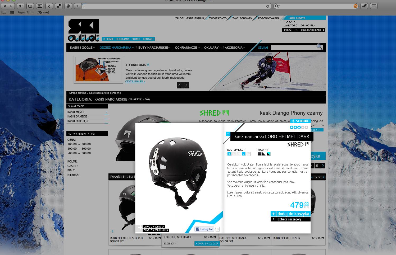 SkiOutlet Magento Projekt Graficzny - SmartMage - sklepy internetowe Magento