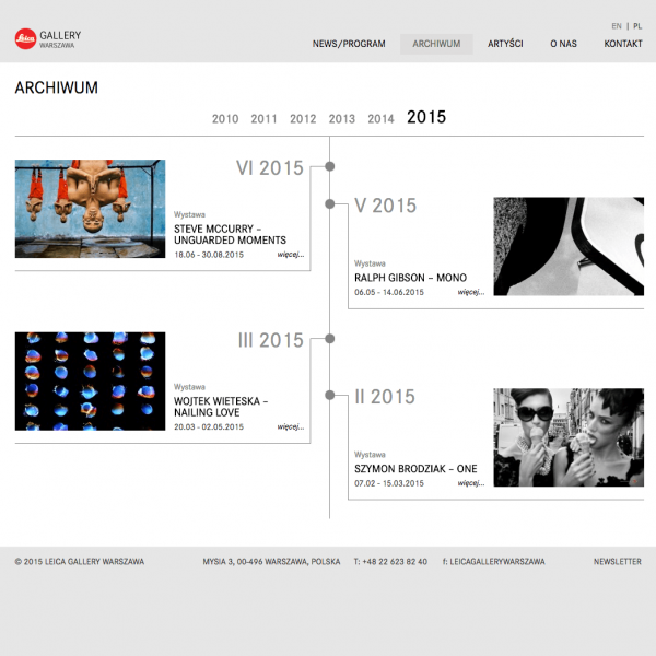 Leica Gallery timeline